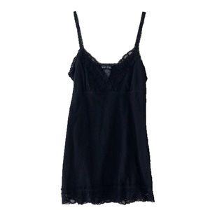 Wet Seal Black Lace Cami Camisole, Medium M